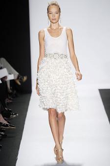 Badgley Mischka Spring rtw 2010 White ruffle dress