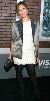 Eva Mendes Lilac Dress