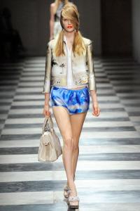 PRADA Spring 2010 rtw blue shorts