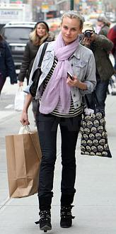 diane kruger pink scarf