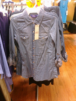 Miley Cyrus Denim Shirt Walmart