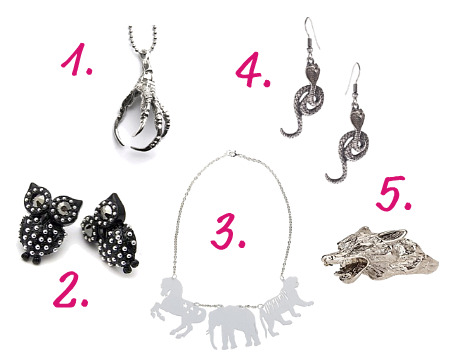 Under $50 Animal Jewlery Silver
