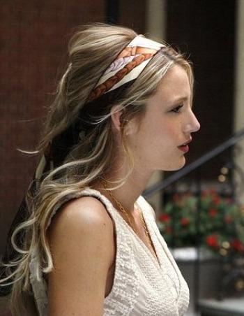 serena van der woodsen hair scarf