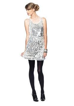 Swirl Sequins Dress