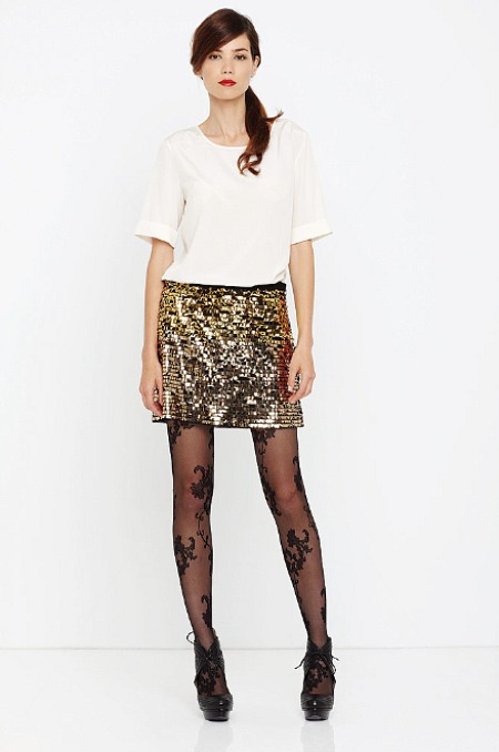 dkny resort 2011 sequin skirt