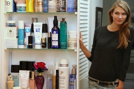 karlie kloss makeup cabinet
